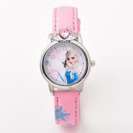 W nowym stylu księżniczka elza dziecięce zegarki Cartoon Anna kryształ księżniczka dzieci zegarek dla dziewcząt studentów dzieci