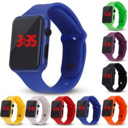 1 sztuk silikonowy LED cyfrowy zegarek kolorowy chłopiec dziewczyna dzieci elektroniczny Student Sport zegarki dzieci zegar cyfr