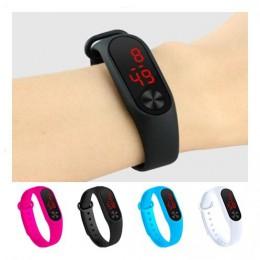 Cztery kolory cyfrowy zegarek dziecięcy zegarek sportowy led Casual silikonowy zegarek na zegarki dla dzieci