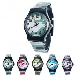 2019 dzieci fajne wojskowy kamuflaż zegarek dzieci silikonowy zegarek moda mozaika kreskówkowa zegarki dziewczyna chłopiec dziec