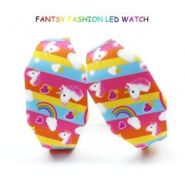 Nowe zegarki dla dzieci Cartoon urocza gumka Luminous Girl zegarek led dla dzieci Student elektroniczny zegarek zegar dziecięcy