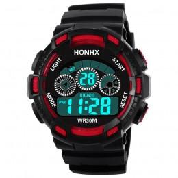 Gorący zegarek dla dzieci chłopcy życie wodoodporny cyfrowy zegarek sportowy led dzieci Alarm zegarek z datownikiem prezent relo
