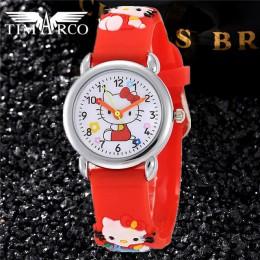 2019 nowe dziecko śliczne kreskówkowe zegarki na silikonowym pasku Enfants dziewczyny zegar kobiety dzieci chłopiec dziecko nylo