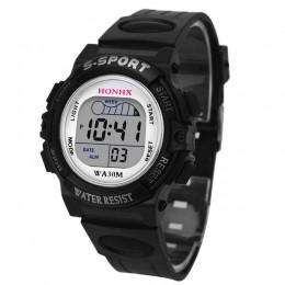 2018 wodoodporne dzieci chłopcy cyfrowy zegarek sportowy led dzieci Alarm zegarek z datownikiem prezent Freeshipping & Wholesale