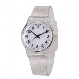 30M wodoodporny zegarek dla dzieci dorywczo przezroczysty zegarek galaretki dzieci zegarek dla chłopców dziewcząt zegarki zegar