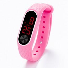 Bransoletka do zegarka dla dzieci LED sportowy cyfrowy zegarek na rękę dla dzieci chłopcy dziewczęta nowy zegar elektroniczny Re