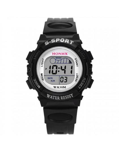 5001 wodoodporne dzieci chłopcy cyfrowy zegarek sportowy led dzieci Alarm zegarek z datownikiem prezent reloj dzieci New Arriva