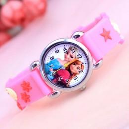 2019 Elsa Anna księżniczka zegarki skórzane dzieci dzieci diamentowy zegarek dziewczyny chłopcy zegar studencki zegarki na rękę