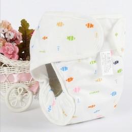 Bawełniane pieluszki dziecięce pieluchy wielokrotnego użytku zmywalna tkanina pieluchy pokrowiec na pieluchy wodoodporne noworod