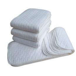 Nowy pieluchy wielorazowe dla dzieci pieluchy z tkaniny wkładki 1 sztuka 3 warstwy wkładka 100% bawełny prać do pielęgnacji niem