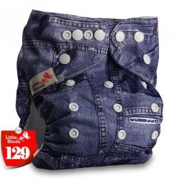 Littles & Bloomz dziecięce do prania w pralce wielokrotnego użytku prawdziwe tkaniny kieszonkowe majtki na pieluchę Wrap suits n