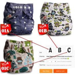 [Littles & Bloomz] dziecięce do prania w pralce ściereczka wielokrotnego użytku kieszonkowa pieluszka na pieluchy, wybierz A1/B1