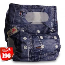 [Littles & Bloomz] dziecięce do prania w pralce wielokrotnego użytku prawdziwe tkaniny standardowe zapinane na rzep kieszonkowe