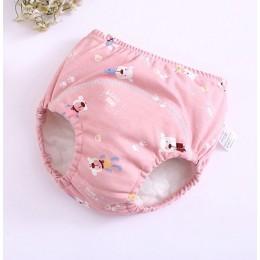 Nowe 6 warstw krocza pieluchy dla dzieci wielokrotnego użytku spodnie treningowe zmywalna tkanina pieluchy wodoodporne bawełnian