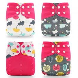 Happyflute gorąca sprzedaż OS kieszonkowy pieluchy 4 sztuk/zestaw zmywalny i wielokrotnego użytku pieluszka dla niemowląt nowy d