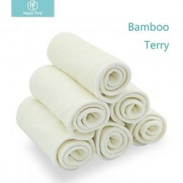 Happy Flute 5/10 szt. 4 warstwy wkładka bambusowa wkładka do pieluszka dla niemowląt Nappy naturalny bambus zmywalny