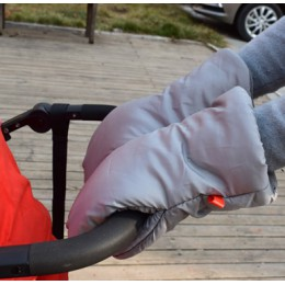 Zimowy wózek ręczny muff wózki dla dzieci wózek ciepły futro polar osłona dłoni buggy Clutch Cart Muff Glove akcesoria do wózka