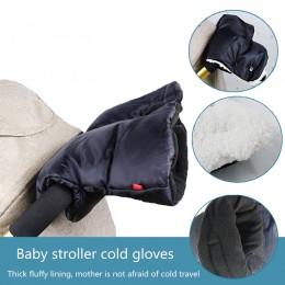 Zimowe rękawiczki do wózka dziecięcego wózek osłona dłoni wodoodporny polarowy wózek spacerowy ciepła osłona dłoni rękawiczki ak