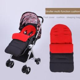 Zimowy wózek dziecięcy Pad poduszka siedziska niemowlę stopy pokrycie wózek materace koperty śpiwór akcesoria do wózka dziecinne