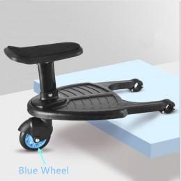 Moda wózek dziecięcy pedał Adapter drugie dziecko przyczepa pomocnicza Twins skuter autostopowicz dzieci stały talerz z siedzeni