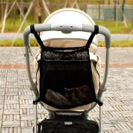 Wózek spacerowy Organizer wózek dziecięcy torba z siateczką kieszeń wózek dziecięcy siatka butelka pieluchy przechowywanie uchwy