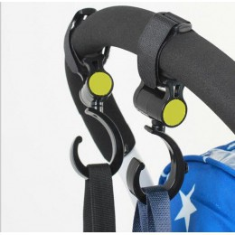 2 sztuk/partia akcesoria dla wózków dziecięcych hak wielofunkcyjny wózek dziecięcy czarny wysokiej jakości plastik hak
