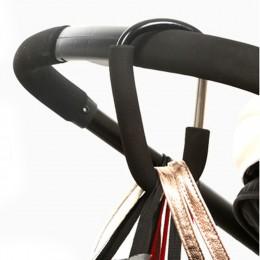 Aluminiowe haki do wózka dziecięcego wysokiej jakości przycisk karabinek torby na zakupy wózek haki wózek wózek torby przewoźnik
