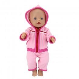 Nowa lalka skok garnitury nadające się do 43cm Zapf laleczka bobas 17 Cal Reborn ubrania dla lalki