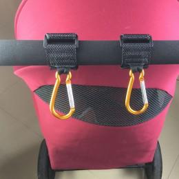 1pc hak wózka dziecięcego akcesoria Buggy torby na pieluchy koszyk hak uniwersalny wózek inwalidzki karabinek stojak na zakupy z