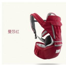 AIEBAO oddychające ergonomiczne nosidełko dla dzieci plecak przenośny nosidło dla niemowląt kangur Hipseat Heaps chusta do nosze