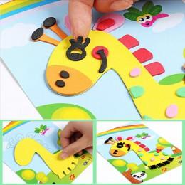 3D naklejka z pianki eva Puzzle gra diy kreskówka nauka zwierząt zabawki edukacyjne dla dzieci dzieci multi-patterns style losow