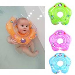 Dziecko szyi Float pływanie noworodka pływać pierścień uszczelniający pompa materac Cartoon basen pływać koła dla 0-24m dzieci b