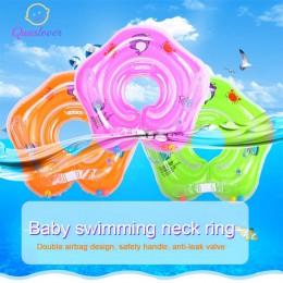 Dziecko nadmuchiwane pływać pierścień uszczelniający noworodków kąpieli koło szyi nadmuchiwane pływak koła basen tratwa zabawki