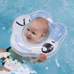 Koło nadmuchiwane pływanie pierścień uszczelniający niemowlę akcesoria pływackie pływanie szyi dziecko pierścień do włosów bezpi