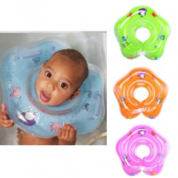 Niemowlę szyi Float Kid nadmuchiwane koło pływanie pływający w basenie dziecko kąpiel koło bezpieczeństwo nadmuchiwane koło wani
