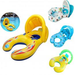 Matka dziecko dmuchany pierścień pływanie koło koło dla dzieci podwójne akcesoria do basenów nadmuchiwane koła Swimtrainer koła