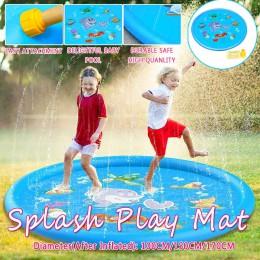 Posypać Splash mata do zabawy zabawa lato Spray ToysInflatable Splash Pad odkryty zabawki wodne dla dzieci dzieci maluchy 100/15