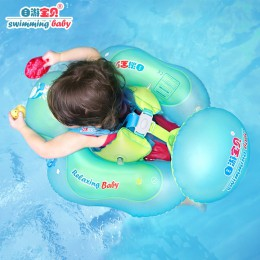 Stałe nadmuchiwany ponton do basenu dla dzieci nadmuchiwane koło szyi niemowlę pod pachami pływające dla dzieci pływa dziecko pł